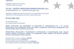 Certificato -ISO 14001 2015